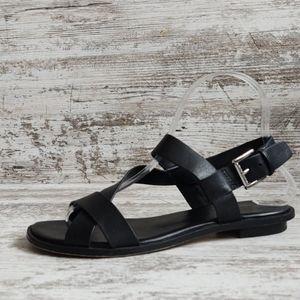 ⚃Michael Kors Strappy Black Leather Sandal